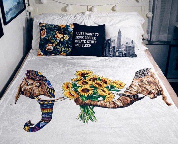Elephant Love Blanket Electro Threads Elephant Comforter Blanket