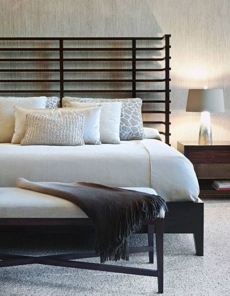 Modern bedroom black and white pinterest neutral for White and neutral bedrooms