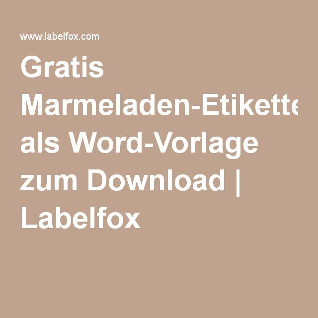 Gratis Marmeladen-Etiketten als Word-Vorlage zum Download | Labelfox