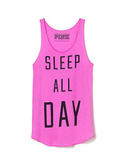 Sleep Racerback Tank - Pink Berry - Size M - PINK - Victoria's Secret