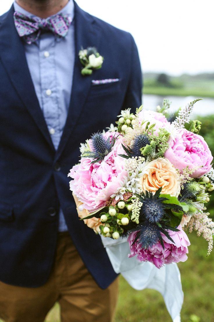 Photography : Veronica Lola Photography | Wedding Dress : shareen vintage Read More on SMP: http://www.stylemepretty.com/massachusetts-weddings/marthas-vineyard/2014/01/13/marthas-vineyard-wedding-at-the-duck-inn/