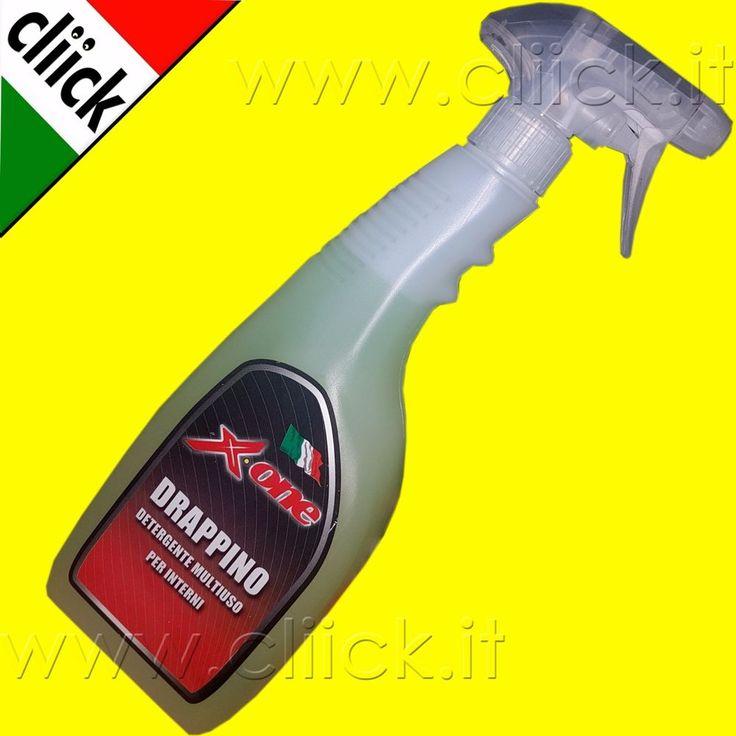 Detergente Pulisci Tappezzeria interni auto sedili stoffa moquette Pelle Scay