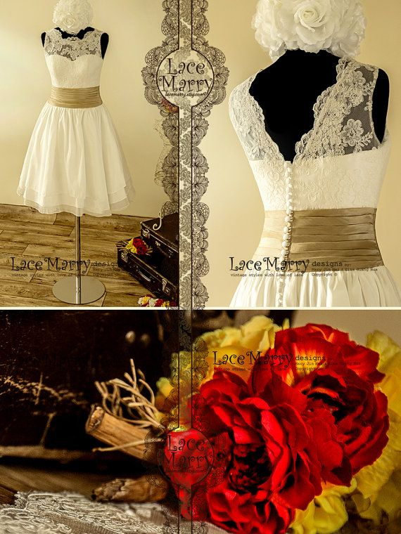 Oh my gosh.. love this dress Charming Short Wedding Dress Reception Dress by LaceMarry on Etsy