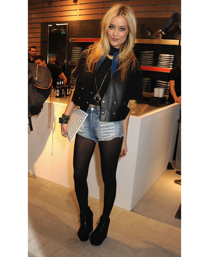 Laura Whitmore in uplifted wedge