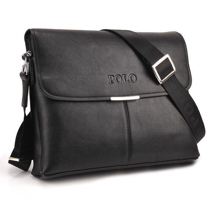 High Quality Men Polo Videng Messenger Bag Shoulder bag Briefcase Faux Leather
