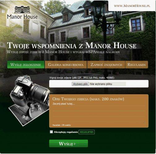 """Konkurs zdjęciowy """"Wspomnienia z Manor House"""" - edycja druga, już na Facebooku: http://www.facebook.com/ManorHouse.PalacOdrowazow/app_273023832724195 - zapraszamy :)"""