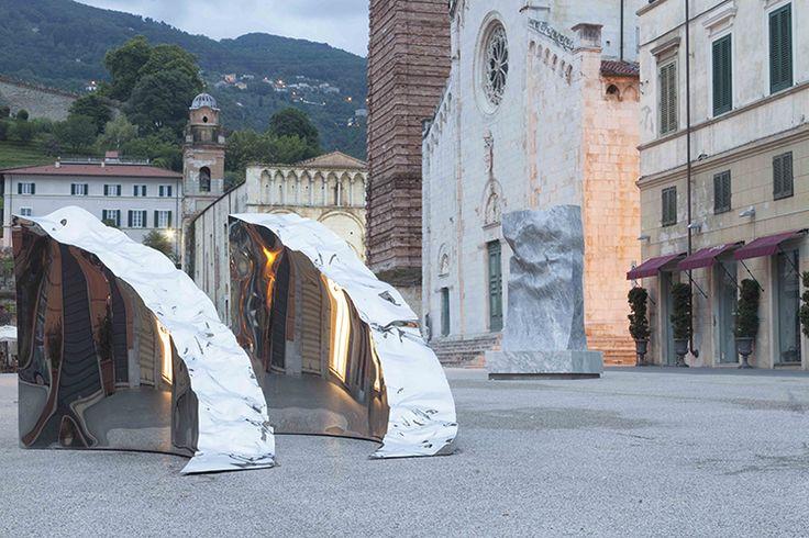 "Helidon Xhixha, ""Shining Rock"" in Pietrasanta. Courtesy of Contini Art UK."