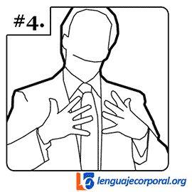 """El Entrelazamiento,  presenta el """"enlace"""" hacia adelante, como mostrándoselo al público.Esta señal se utiliza para representar el encuentro de dos puntos de vista opuestos o dispares en una solución viable o ganar-ganar."""