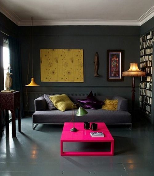 Pink and grey interior design pinterest for Living room ideas pink and grey