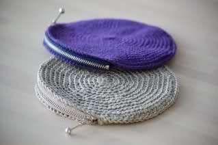 Monedero de crochet en forma redonda - Fuente: Pinterest