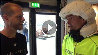 Efter succesfuld afprøvning af Hövding airbag cykelhjelm blev jeg interviewet af Lasse Sommer: Jeg er imponeret over hjelmens funktion og den føles rigtig sikker - har ift. alm. cykelhjelmen en langt  bedre sikring af nakke.