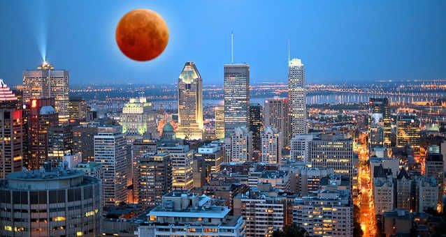 """A Rare """"Super Red Moon"""" Eclipse Will Be Visible In Montreal This Month #montreal #thingstodo"""
