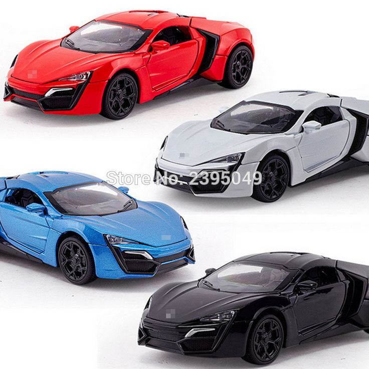 1:32 kids toys Fast and Furious 7 Lykan Hypersport Mini Auto metal toy cars model pull back car lminiatures gifts for children