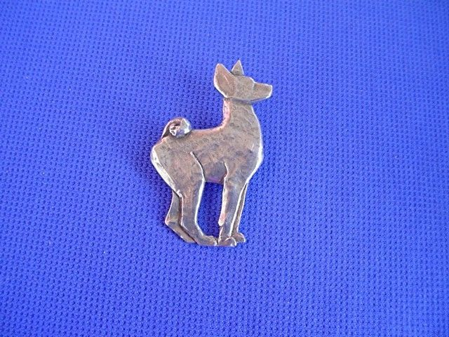 Deco Stylized Basenji Pin #40N Pewter Hound Dog Jewelry by Cindy A. Conter