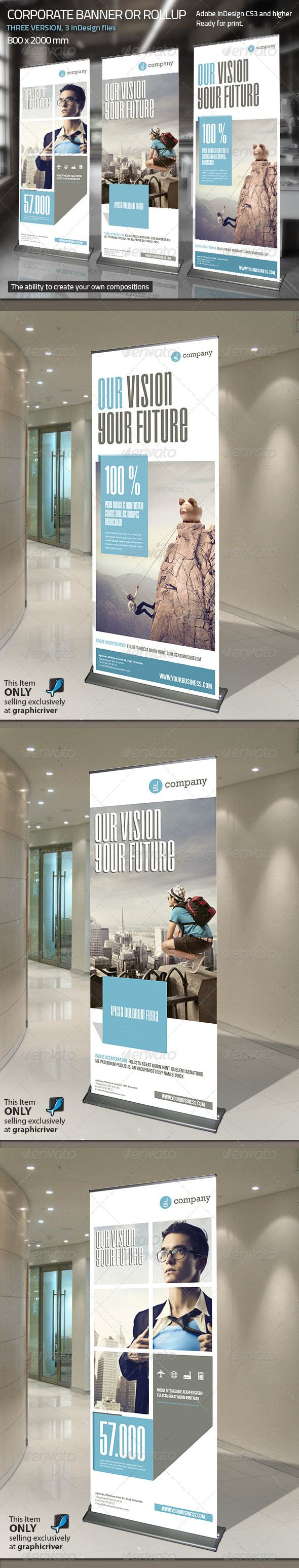 Corporate Banner or Rollup Vol 3 - Signage Print Templates