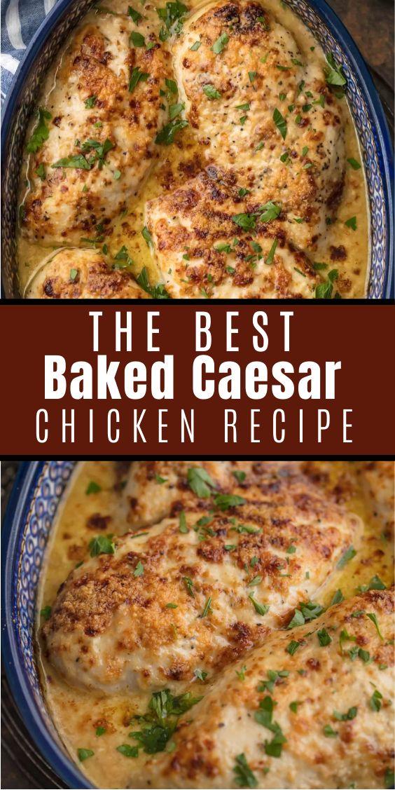 Baked Caesar Chicken Recipe