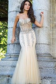 Nude and Silver Mermaid Sexy Dress 5908