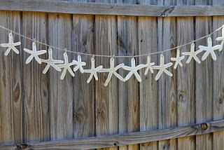 Starfish Garland | Perfect for a mermaid party!