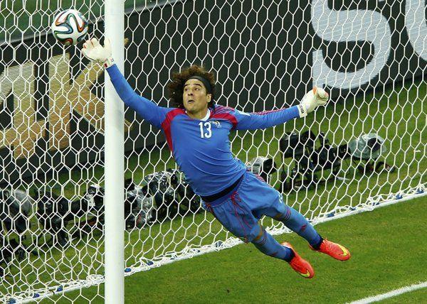 Mexico's goalkeeper Guillermo Ochoa shuts down Brazil
