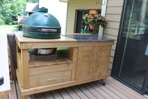 Paul Mayer teaches you how to build your very own rolling cart for a large-sized grill without damaging the appearance of your high end smoker.