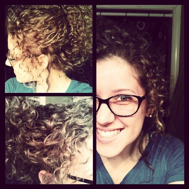 permed hair pulled back--very pretty