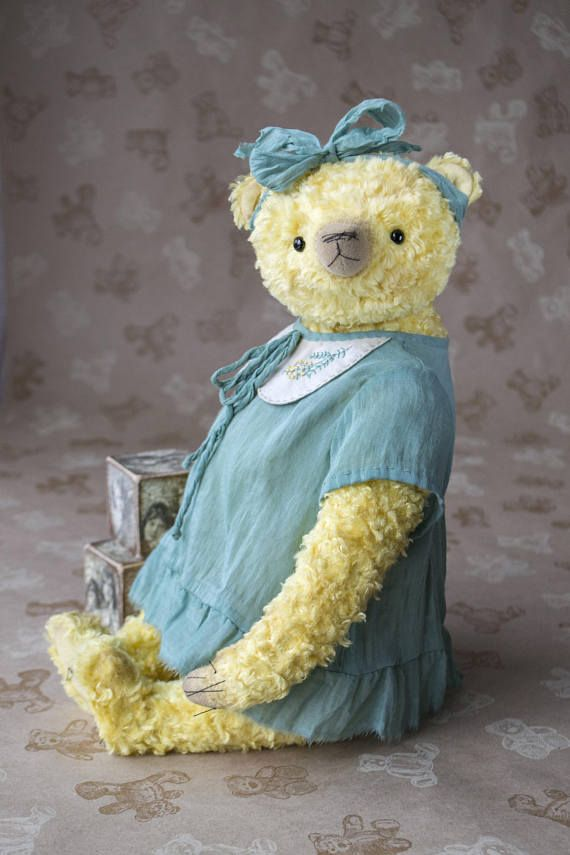 OOAK artist big teddy bear collectible bear plush teddy