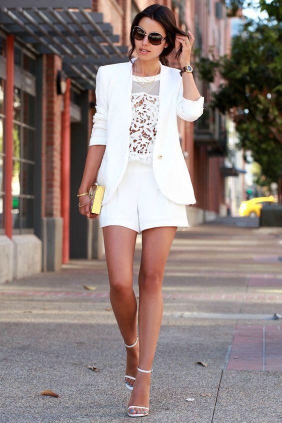 9bc8f7dd4c Short Suit (blazer + short de alfaiataria) para Mulheres  Tendência ...