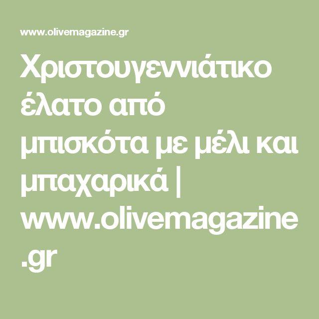 Χριστουγεννιάτικο έλατο από μπισκότα με μέλι και μπαχαρικά | www.olivemagazine.gr
