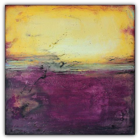 On Sale - Purple and Gold Abstract Art – Majestic Wall Art – Modern Square Painting