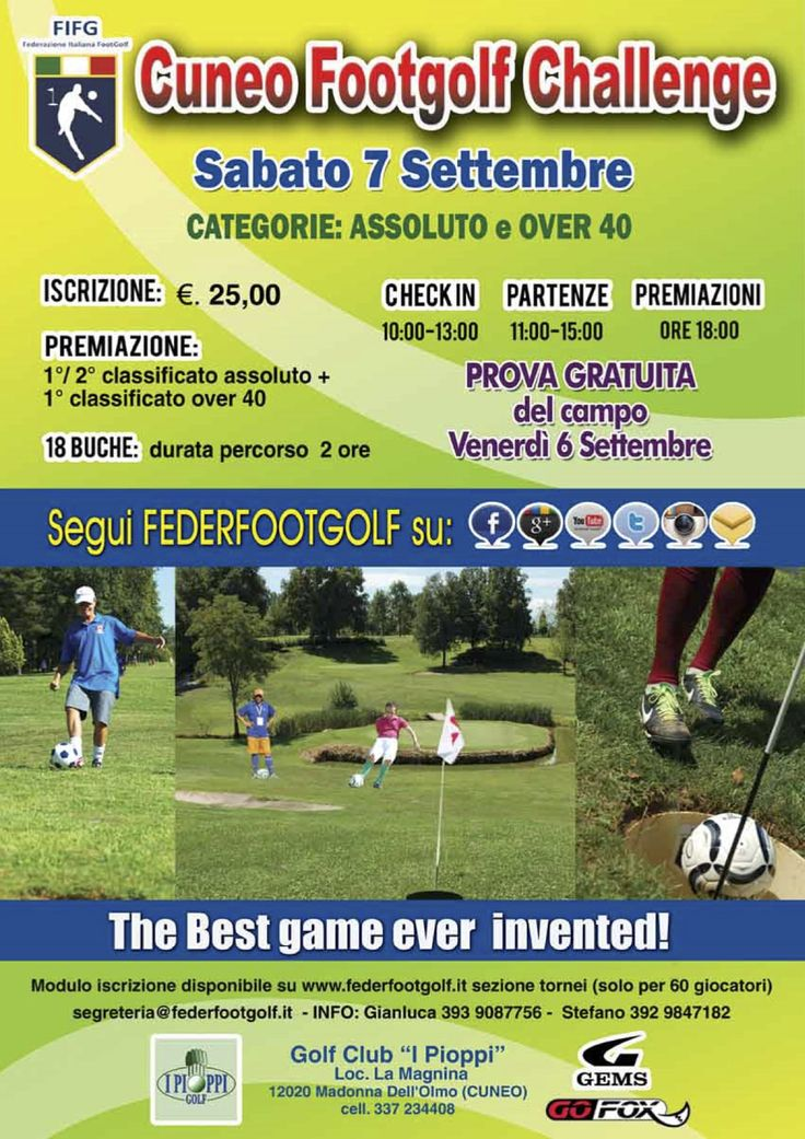 Cuneo Footgolf Challenge 07/09/13 http://www.federfootgolf.it/cuneo-footgolf-challenge-pioppi-07-09-2013/