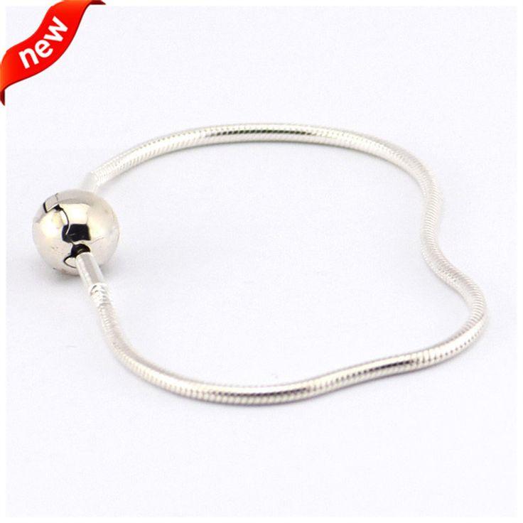 Essence Bracelets Fits European Beads 100% 925 Sterling-Silver-Jewelry Bracelets for Women DIY Making with Essence Beads FLB010