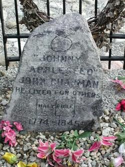 John Johnny Appleseed Chapman -Birth: 	Sep. 26, 1774 Leominster Worcester County Massachusetts, USA Death: 	Mar. 10, 1845 Fort Wayne Allen County Indiana, USA  Folk Hero and Patriot. He was born John Chapman in Leominster, Massachusetts to a father who was a Minuteman at Concord and later served in the Continental Army during the Revolutionary War.