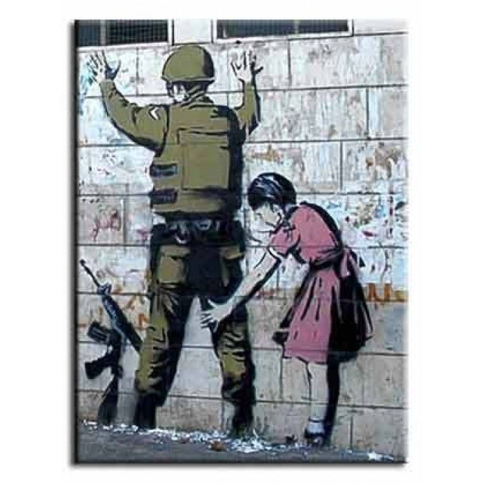 The Banksy Shop - Banksy Canvas Print - Soldier Search, £34.95 (http://www.thebanksyshop.co.uk/banksy-canvas-print-soldier-search/)
