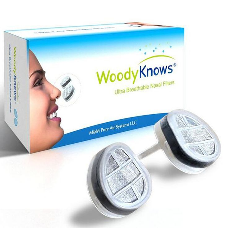 WoodyKnows Air Filter Ultra Breathable Nasal Filters Nose Masks Pollen Allergies Dust Allergy Relief No pm2.5 Air Pollution