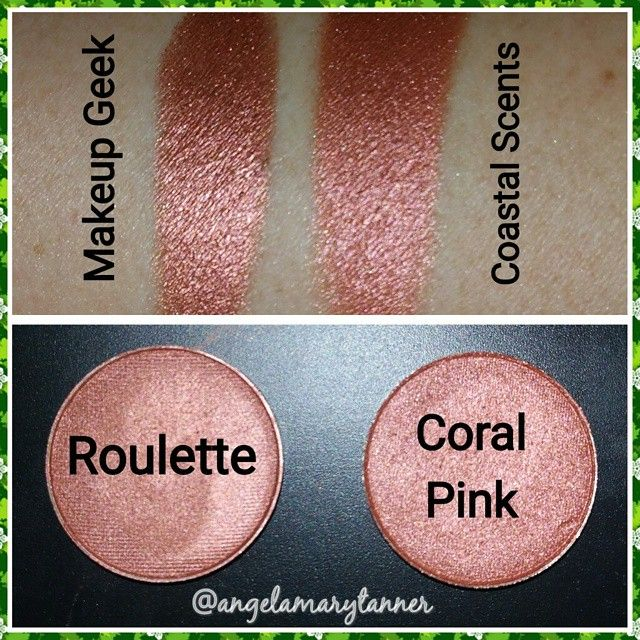 Makeup geek roulette vs coastal scents coral pink