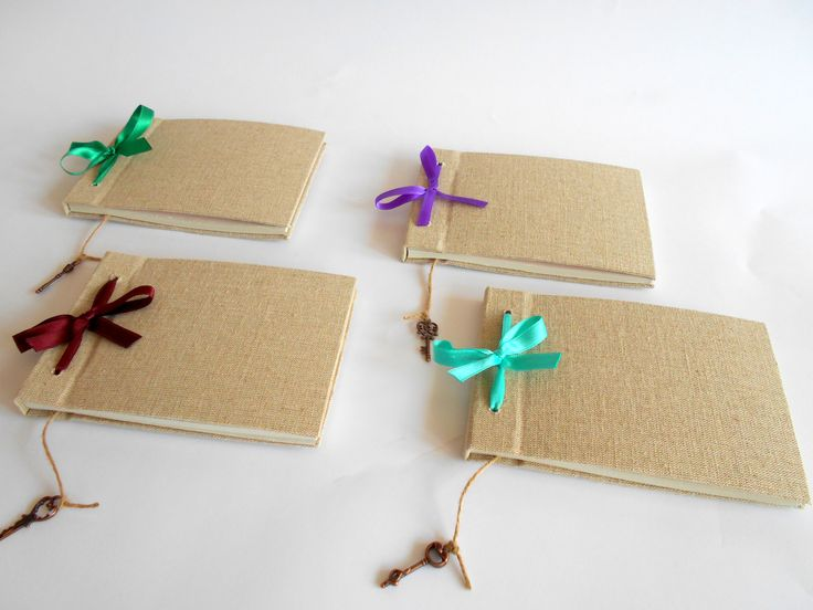 These four sketchbooks made with eco-friendly linen fabric were customized for a lady in Israel. She wanted to have one for her and three for gifting to some of her friends. You can customize almost every journal and sketchbook design in our store.