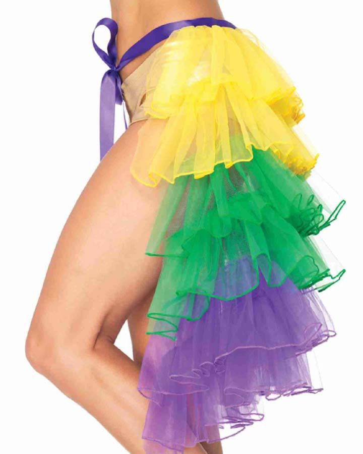 Mardi Gras Organza Bustle: This would look great on top of a solid black dress :-)