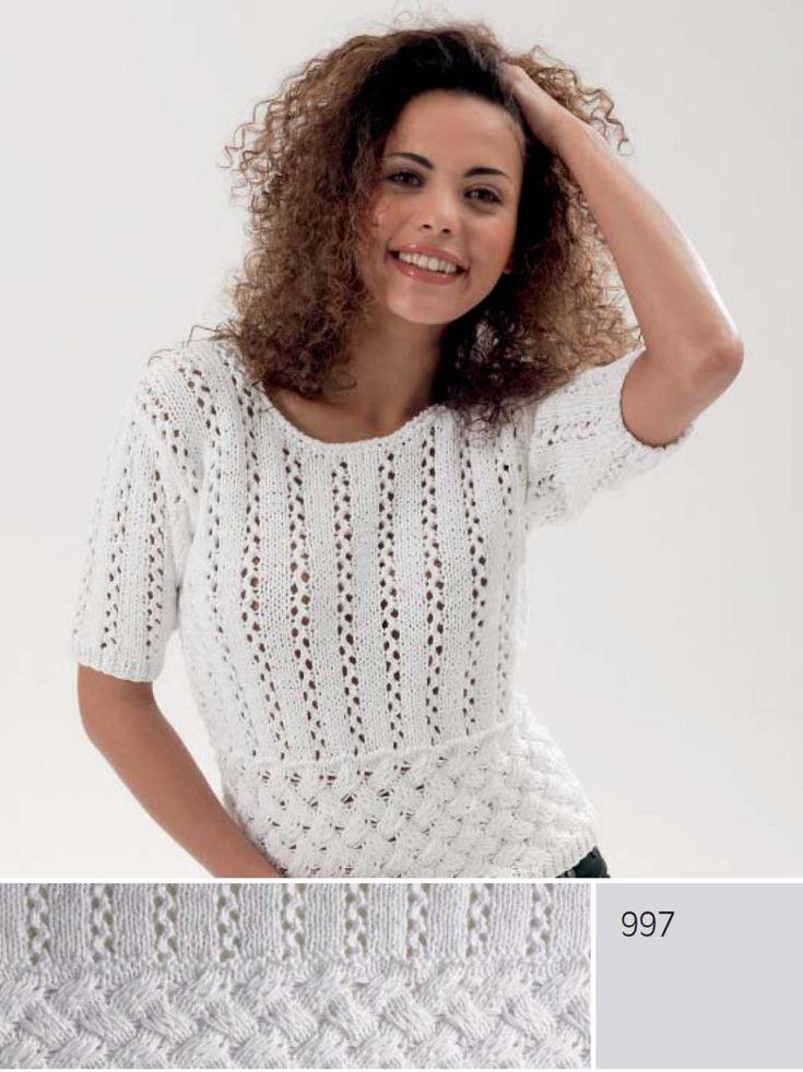 Пуловер с короткими рукавами (спицы). Обсуждение на LiveInternet - Российский Сервис Онлайн-Дневников