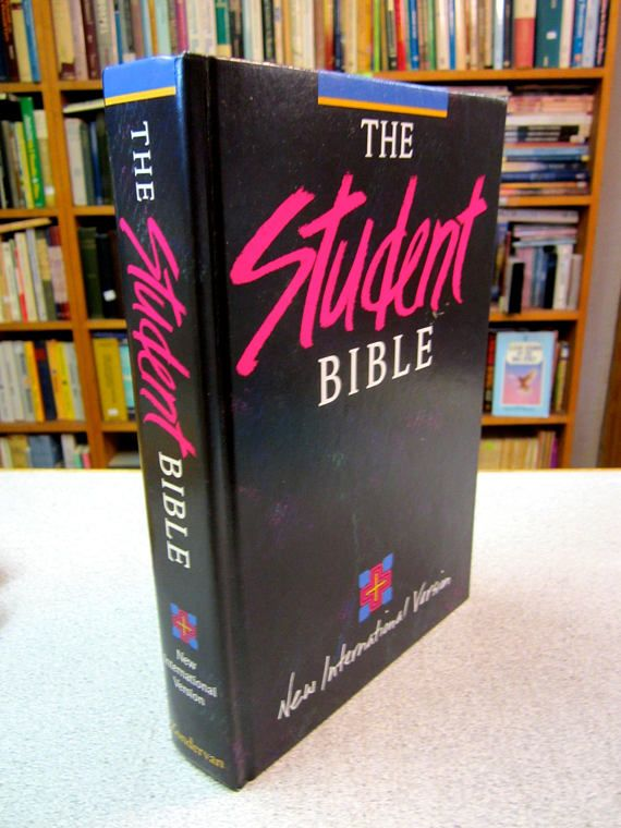 OOP NIV STUDENT Bible Zondervan 1984 New International Text Edition Indexed Hardcover Philip Yancey Like New