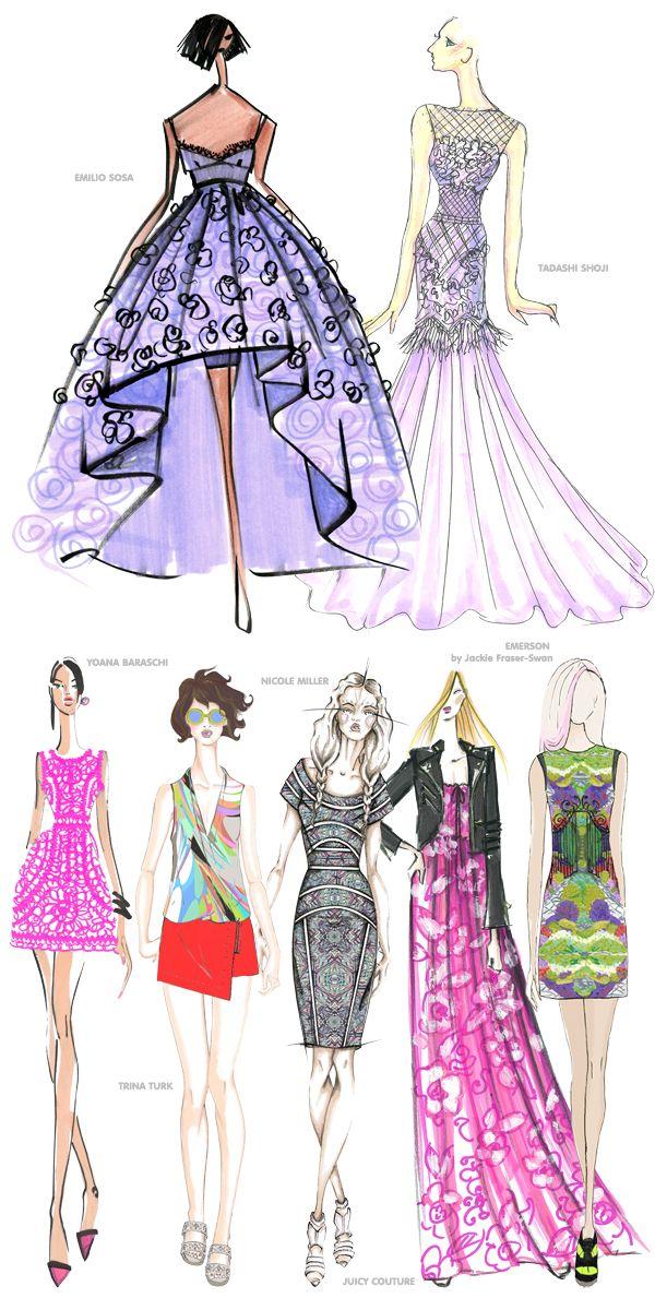 Pantone Fashion Color Report SPRING 2014 designers Desenho