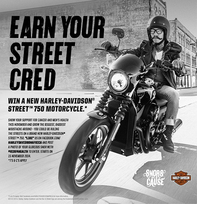Go to our website to see how you can win a 750 Sportster with your snor (mo) #ride4health #snorswithacause
