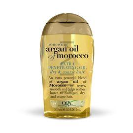 Perfekt olje for skadet, tykt hår fra OGX.