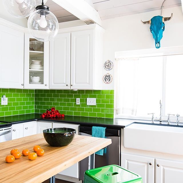 Green Gloss Kitchen: 25+ Best Ideas About Green Kitchen Countertops On