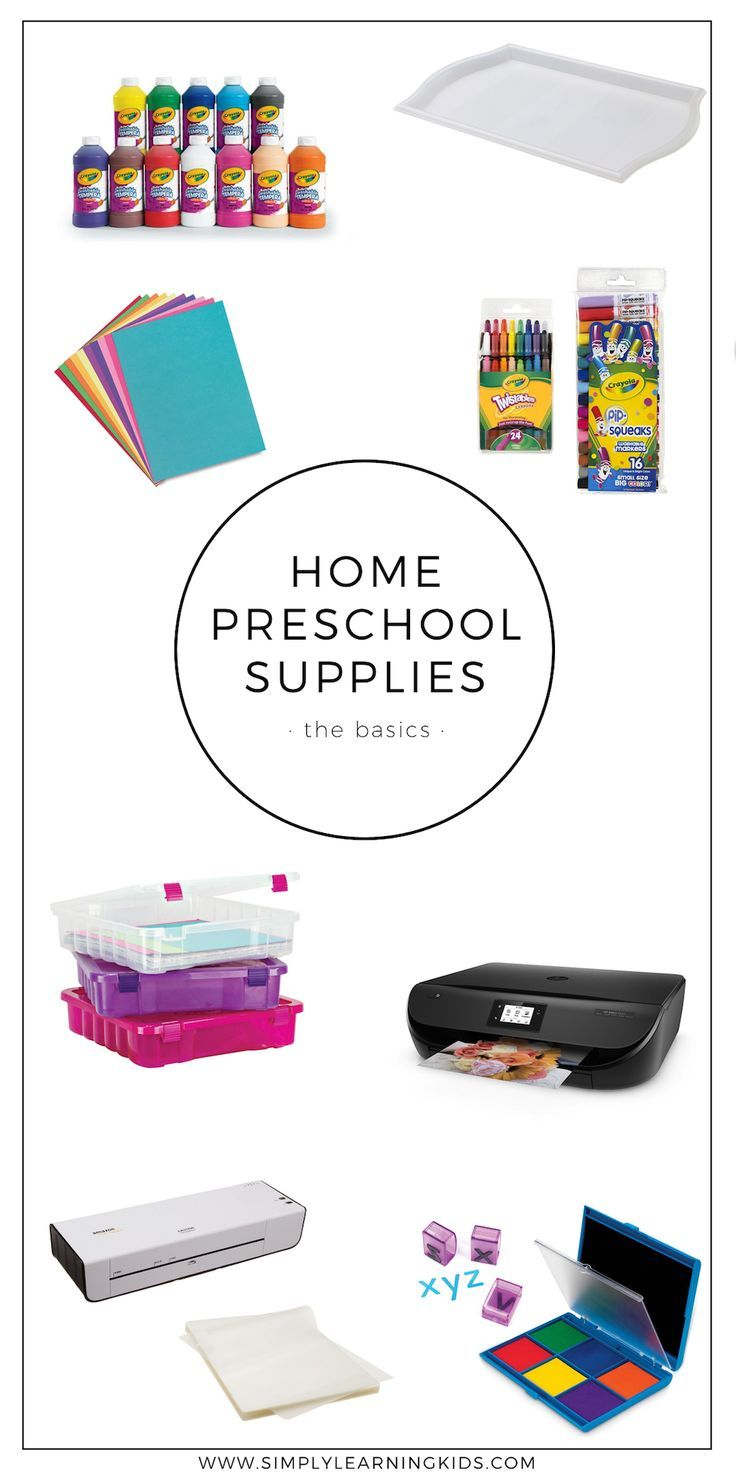 Home Preschool Supplies - Simply Learning