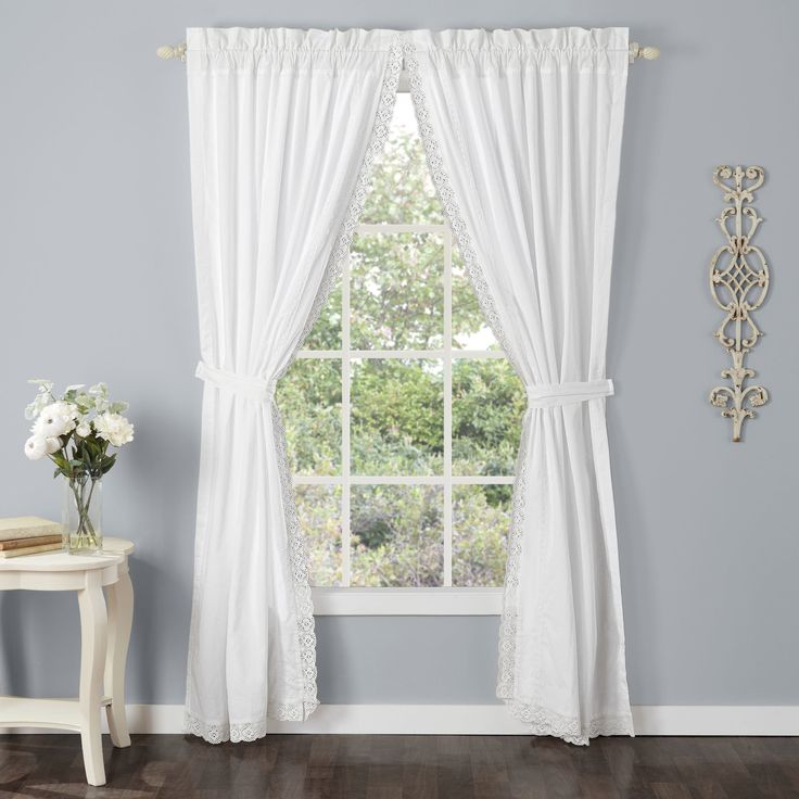 laura ashley annabella lace curtain panel set
