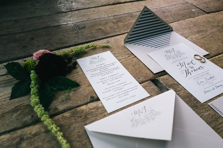 Elegant Wedding Stationery Suite by The Wedding Letters - Floral Print Wedding Dress by Anna Fuca   Tuscan Treehouse Bridal Inspiration Shoot   Images by Stefano Santucci