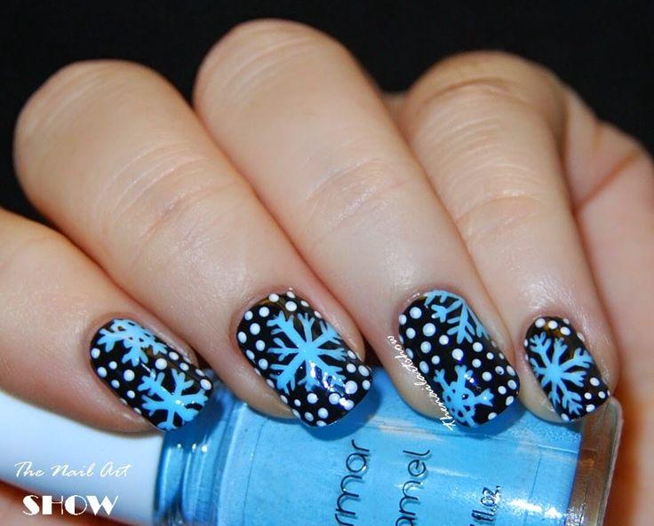 50 Fotos de Uñas decoradas para Invierno – Winter Nail art | Decoración de Uñas - Nail Art - Uñas decoradas