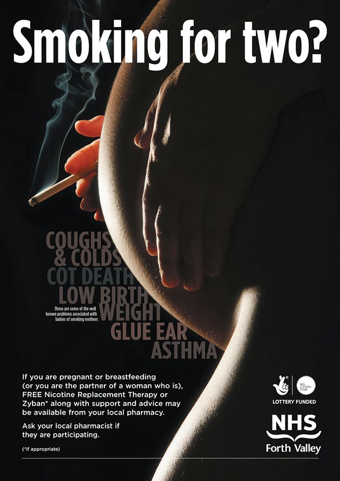 What are the effect of smoking while pregnant