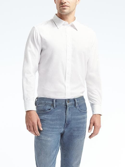Every guy loves to look smart and what says it better than this @BananaRepublic Camden Casual #shirt 😍