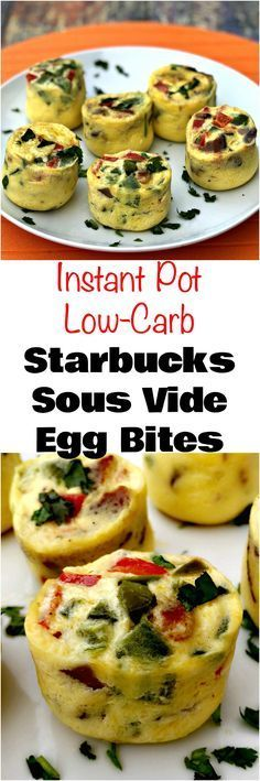 Instant Pot Low-Carb Starbucks Sous Vide Bacon Egg Bites is a quick and easy, protein, keto pressure cooker recipe with eggs, egg whites, and bacon. #LowCarb #LowCarbRecipes #SousVide #InstantPot #InstantPotRecipes #Keto #KetoRecipes #PressureCooker #PressureCookerRecipes #Protein